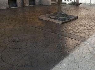 Pavimenti stampati per esterni